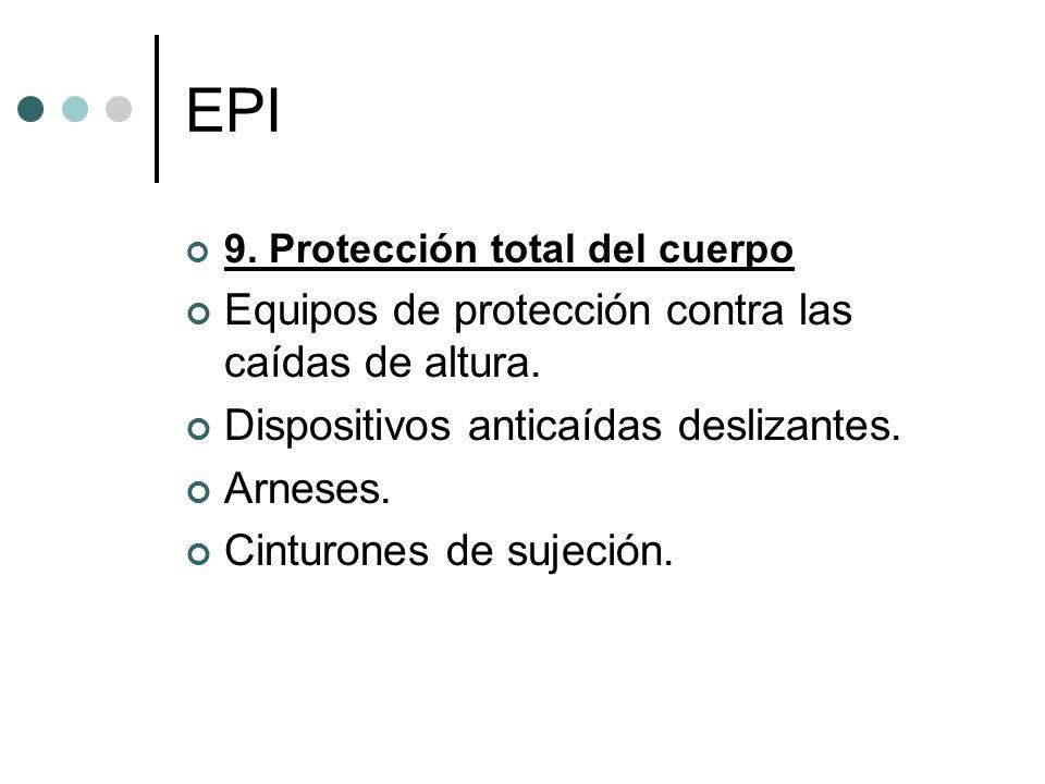 EPI Equipos de protección contra las caídas de altura.