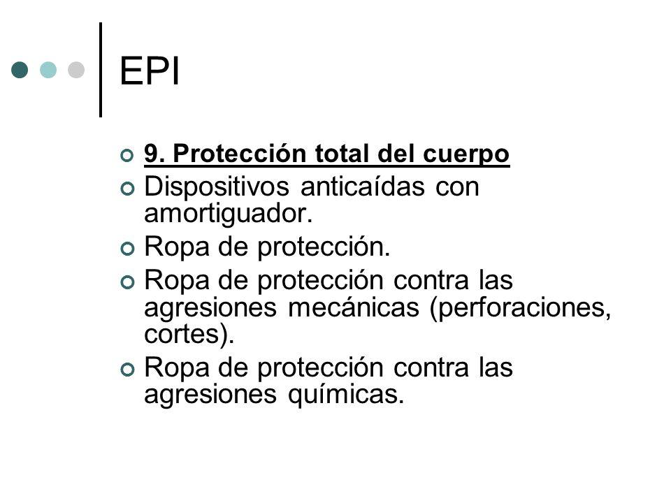 EPI Dispositivos anticaídas con amortiguador. Ropa de protección.