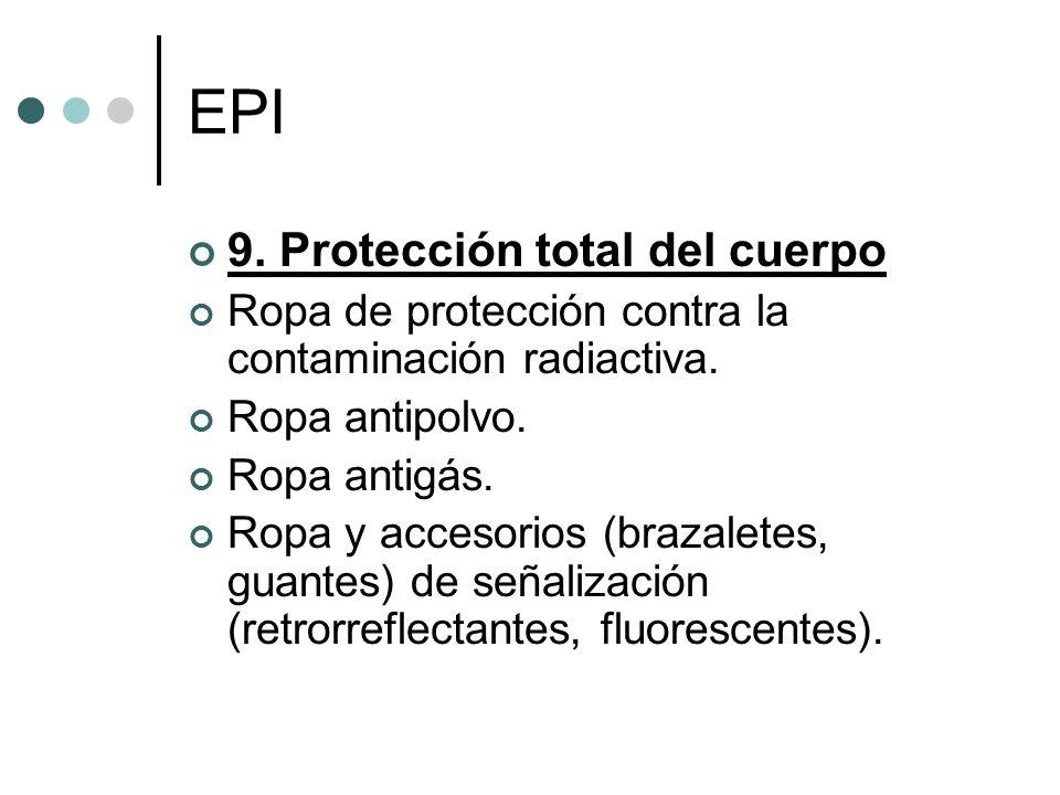 EPI 9. Protección total del cuerpo