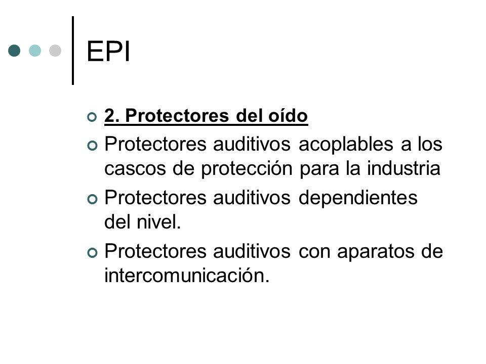 EPI 2. Protectores del oído. Protectores auditivos acoplables a los cascos de protección para la industria.