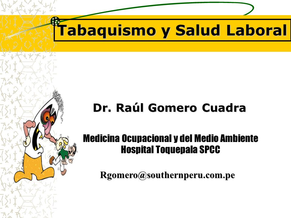 Tabaquismo y Salud Laboral