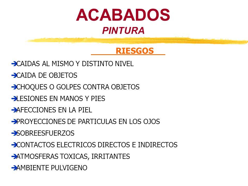 PINTURA ACABADOS RIESGOS CAIDAS AL MISMO Y DISTINTO NIVEL