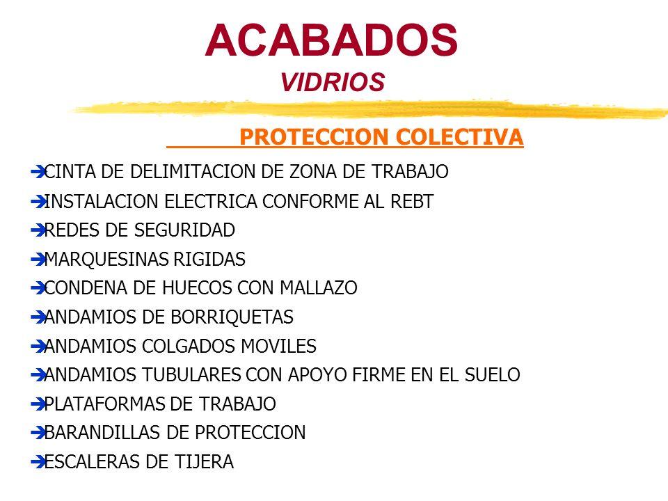 VIDRIOS ACABADOS PROTECCION COLECTIVA