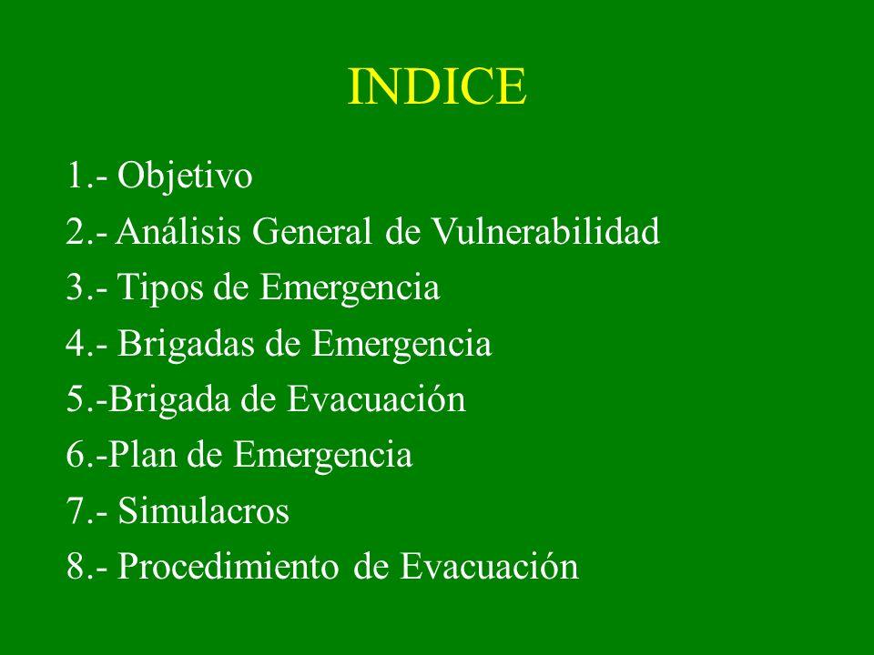 INDICE 1.- Objetivo 2.- Análisis General de Vulnerabilidad