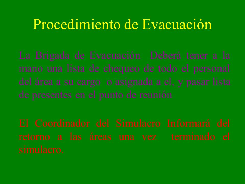 Procedimiento de Evacuación