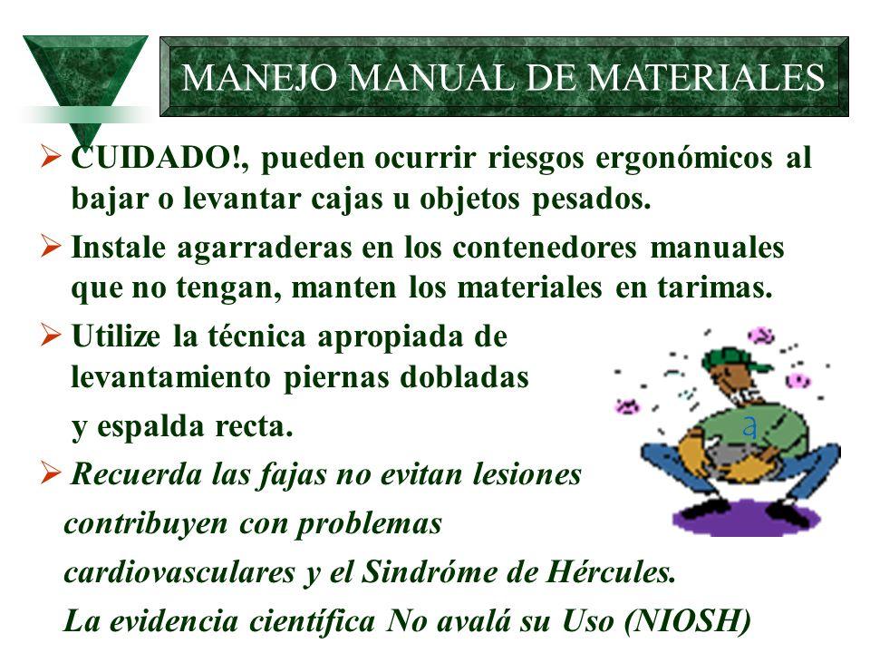 MANEJO MANUAL DE MATERIALES