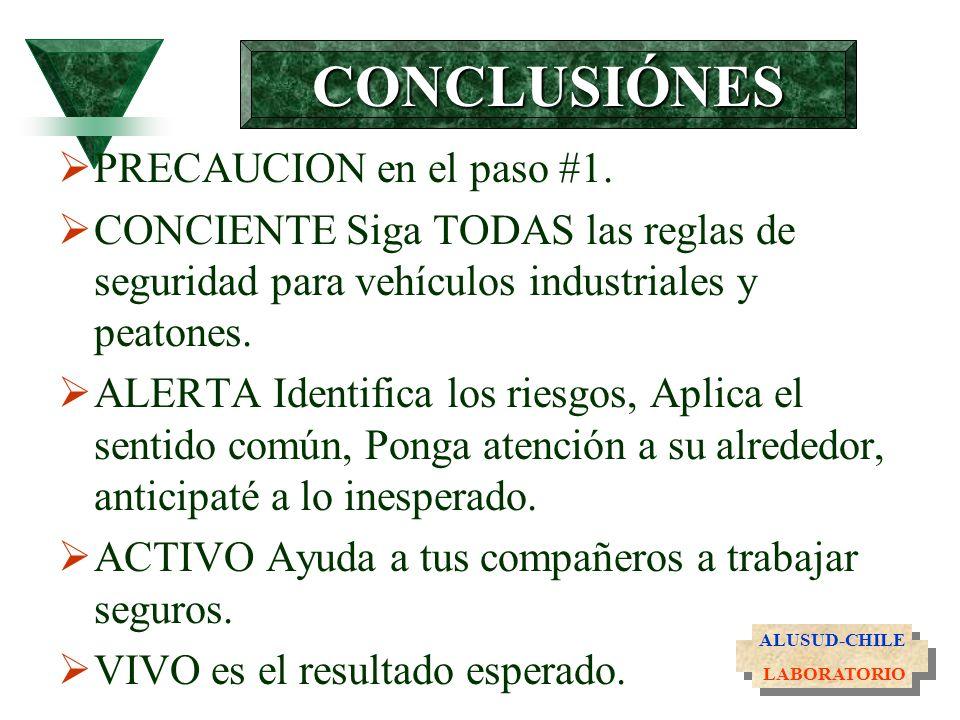 CONCLUSIÓNES PRECAUCION en el paso #1.
