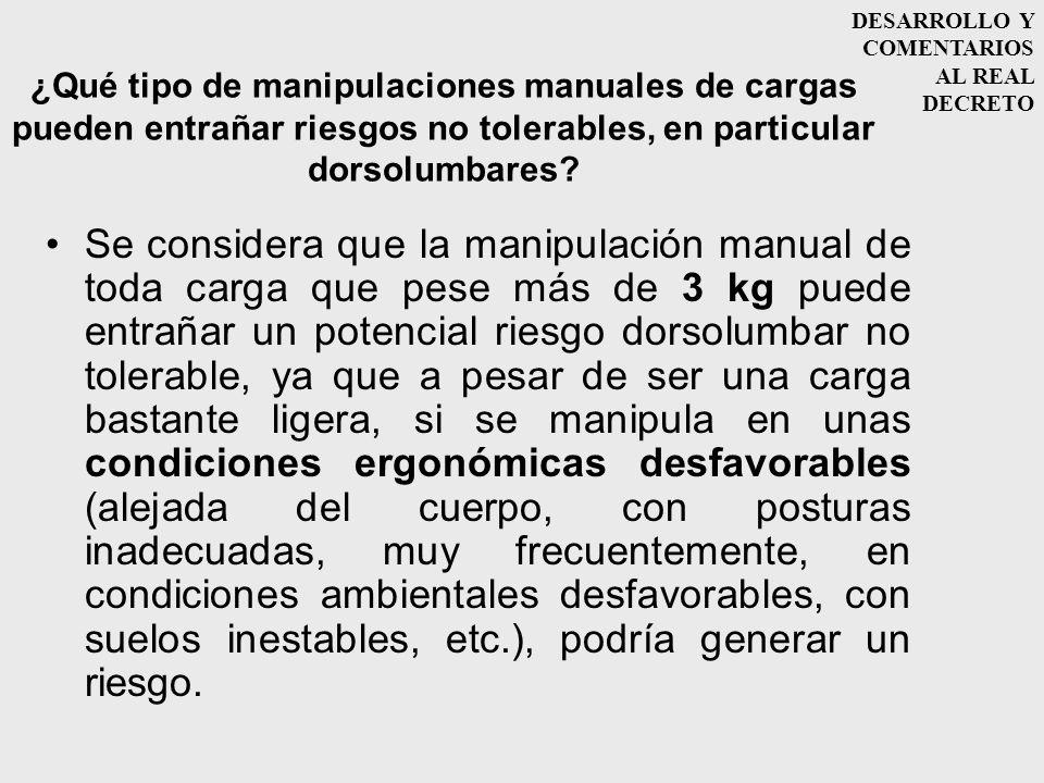 DESARROLLO Y COMENTARIOS AL REAL DECRETO