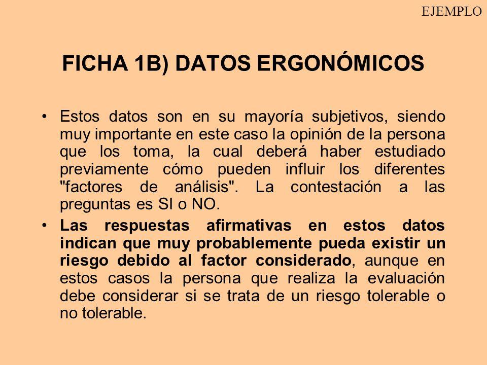 FICHA 1B) DATOS ERGONÓMICOS