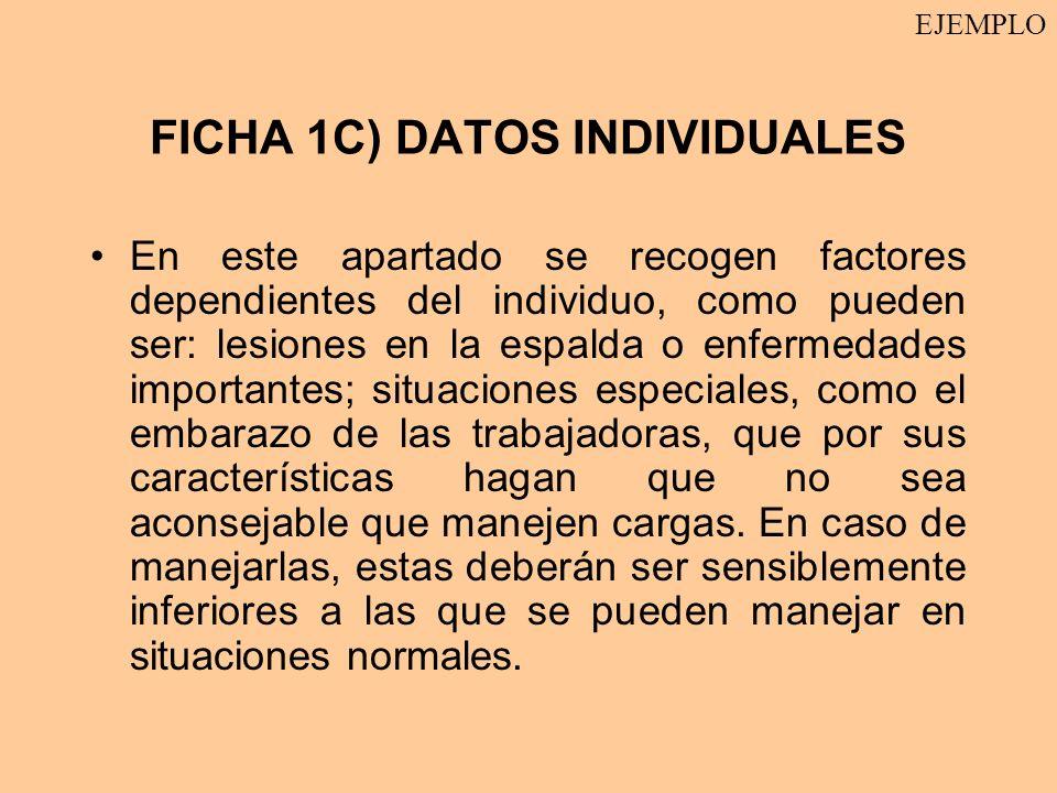 FICHA 1C) DATOS INDIVIDUALES