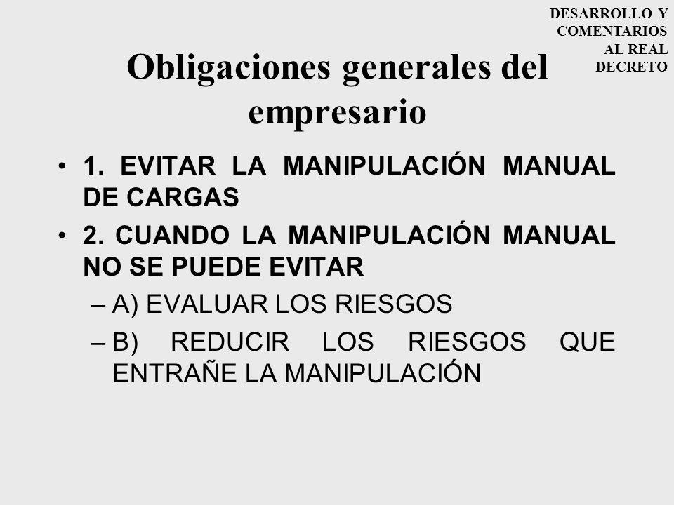 Obligaciones generales del empresario