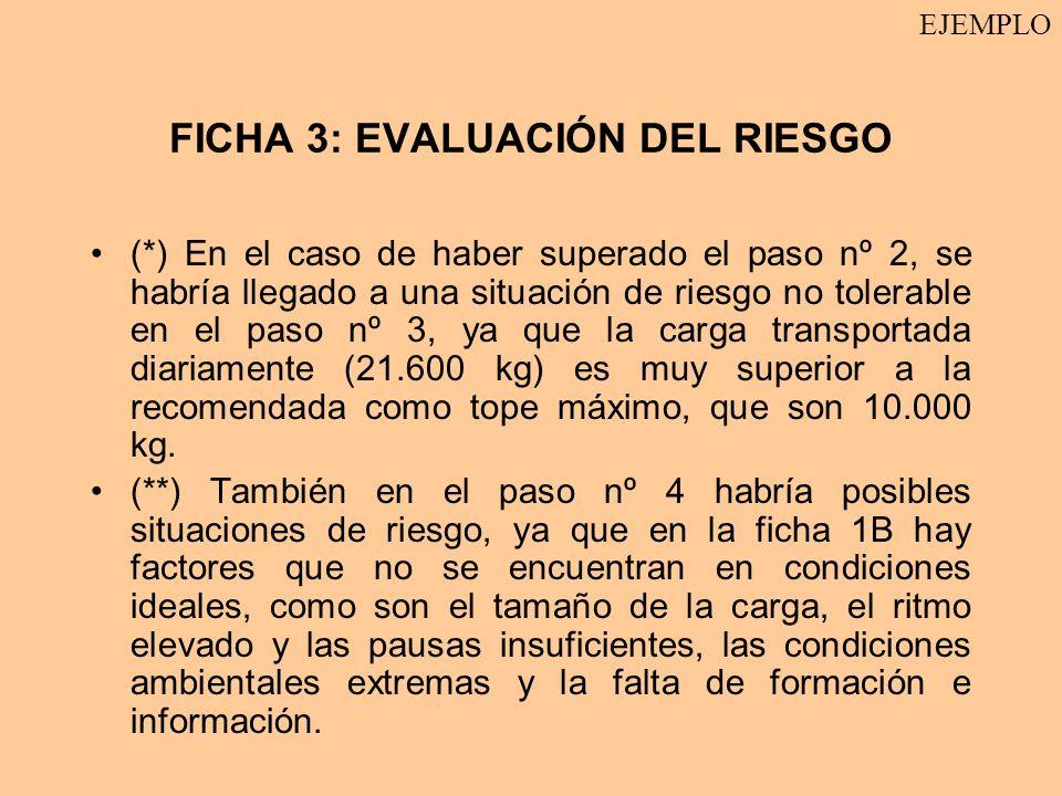 FICHA 3: EVALUACIÓN DEL RIESGO