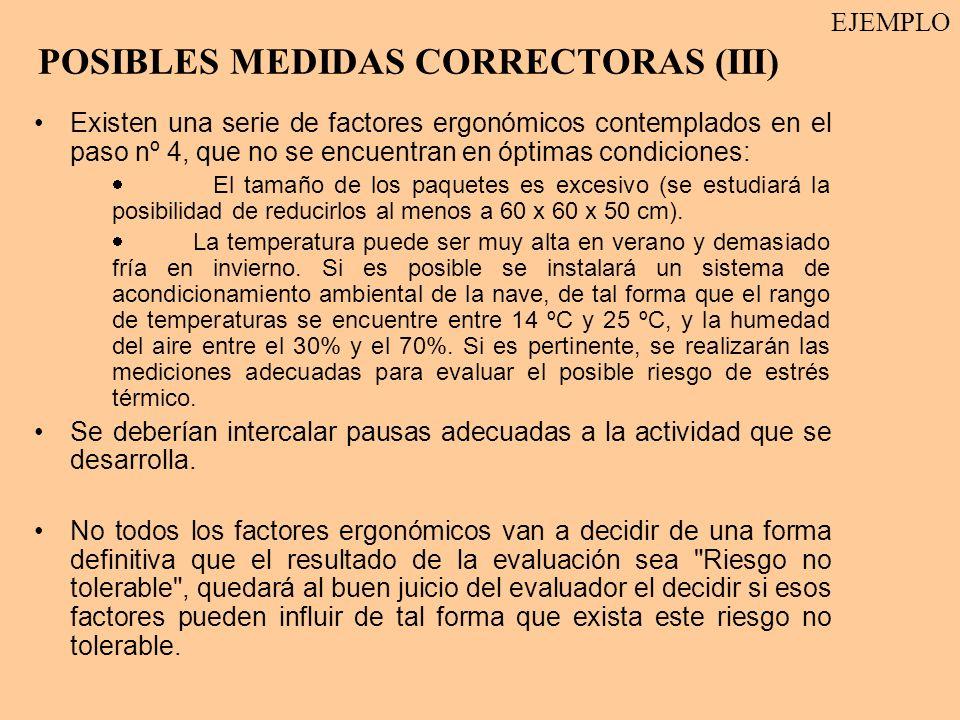 POSIBLES MEDIDAS CORRECTORAS (III)