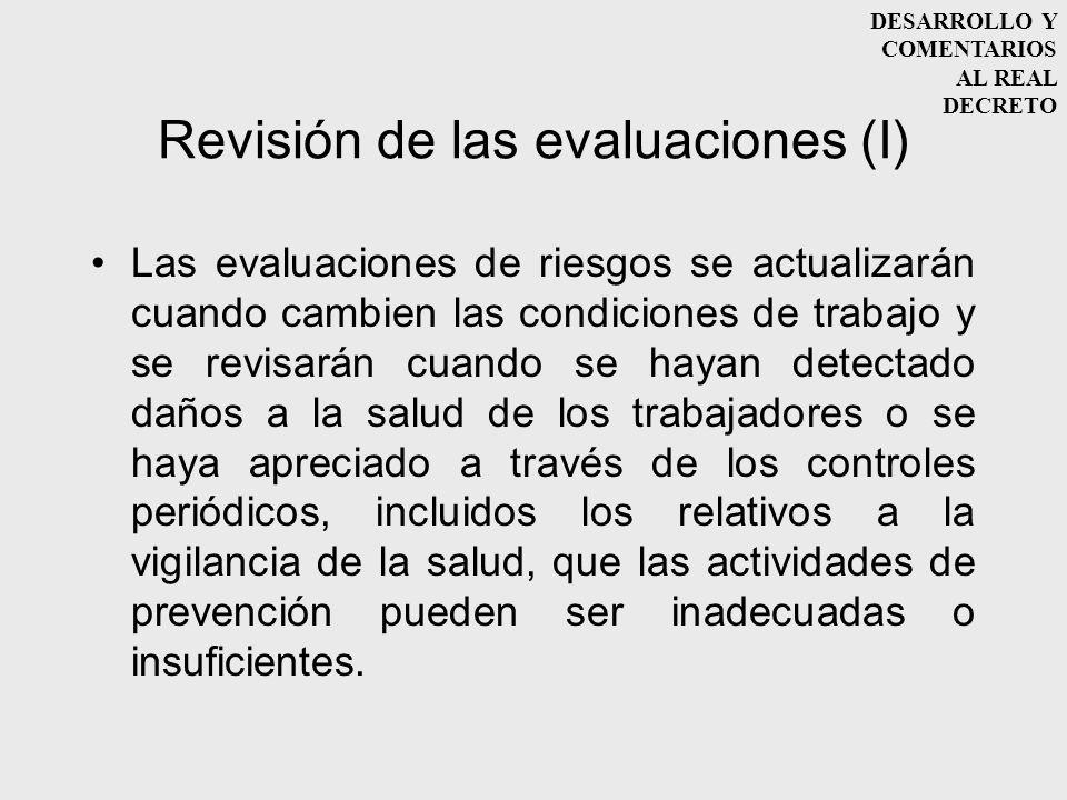 Revisión de las evaluaciones (I)