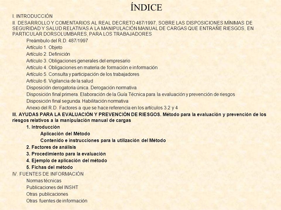 ÍNDICE I. INTRODUCCIÓN.