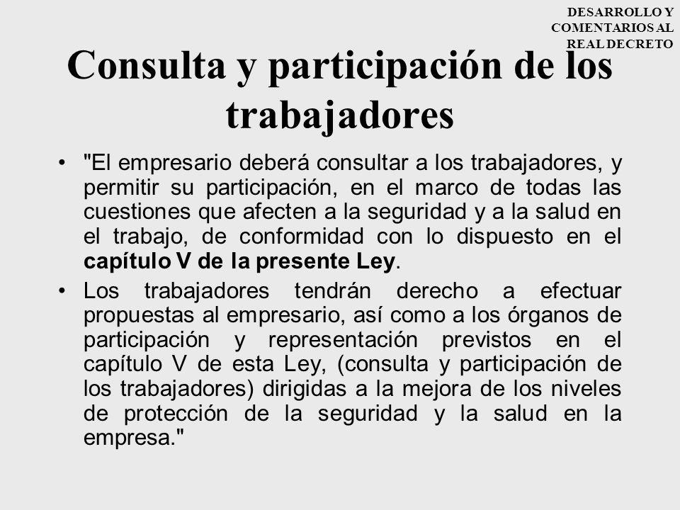 Consulta y participación de los trabajadores