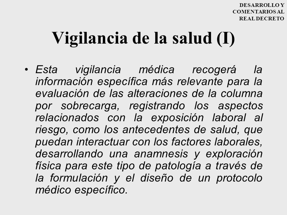 Vigilancia de la salud (I)