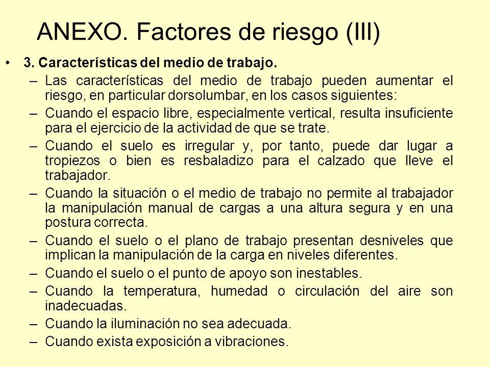 ANEXO. Factores de riesgo (III)