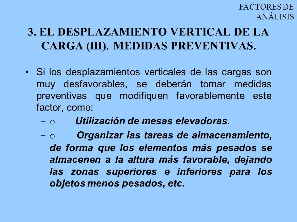 3. EL DESPLAZAMIENTO VERTICAL DE LA CARGA (III). MEDIDAS PREVENTIVAS.