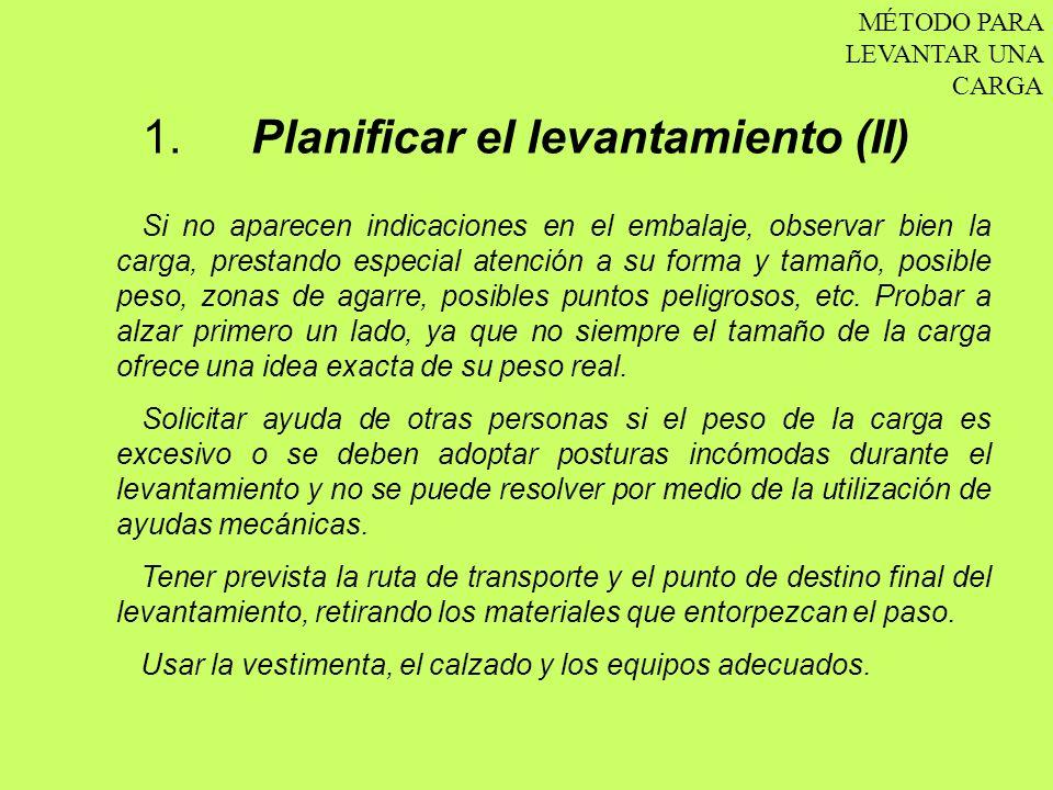 1. Planificar el levantamiento (II)