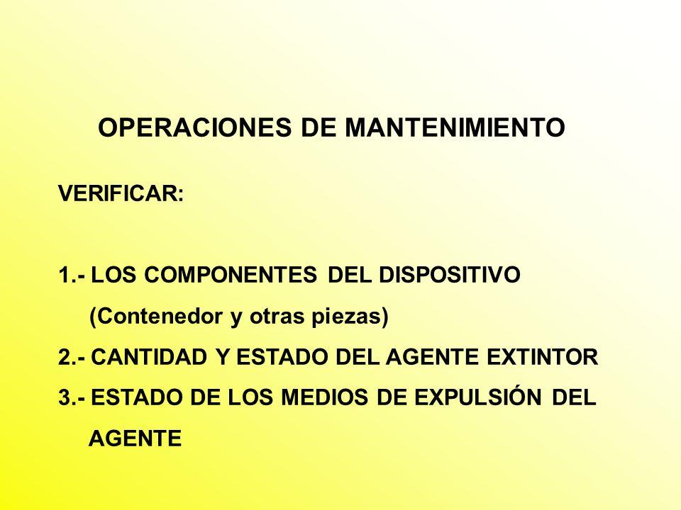 OPERACIONES DE MANTENIMIENTO