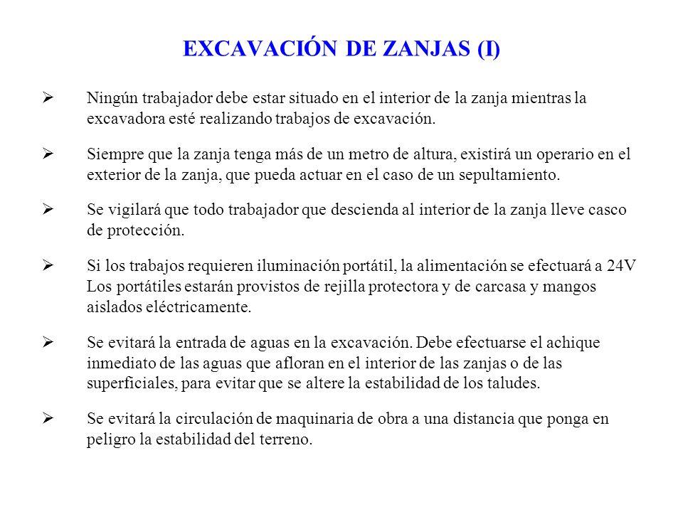 EXCAVACIÓN DE ZANJAS (I)