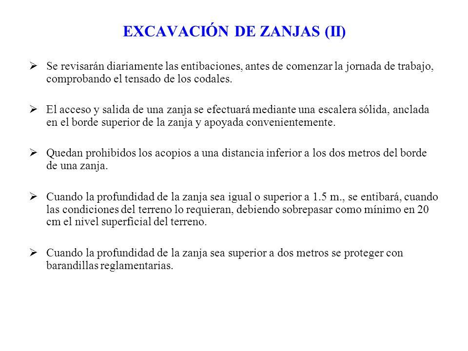 EXCAVACIÓN DE ZANJAS (II)