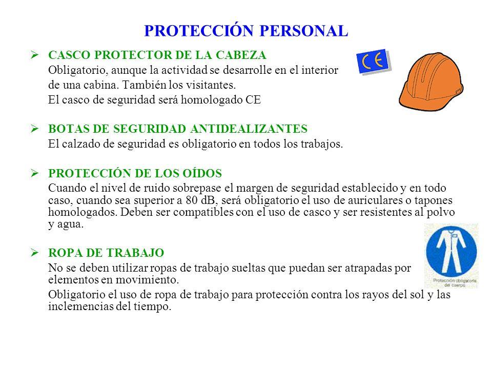 PROTECCIÓN PERSONAL CASCO PROTECTOR DE LA CABEZA