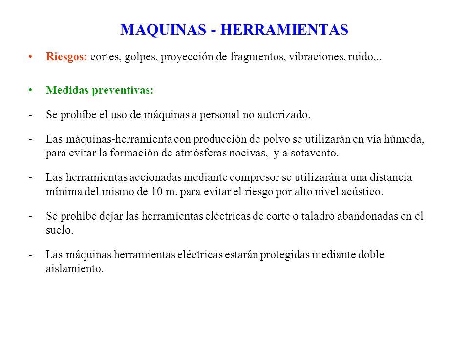 MAQUINAS - HERRAMIENTAS