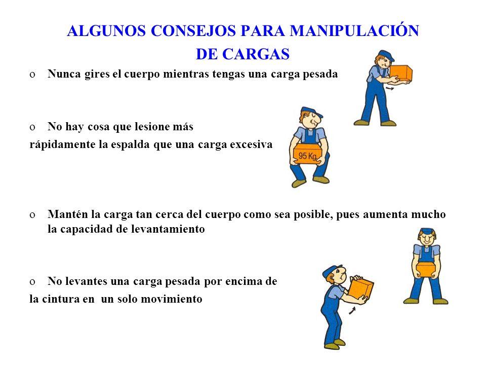 ALGUNOS CONSEJOS PARA MANIPULACIÓN