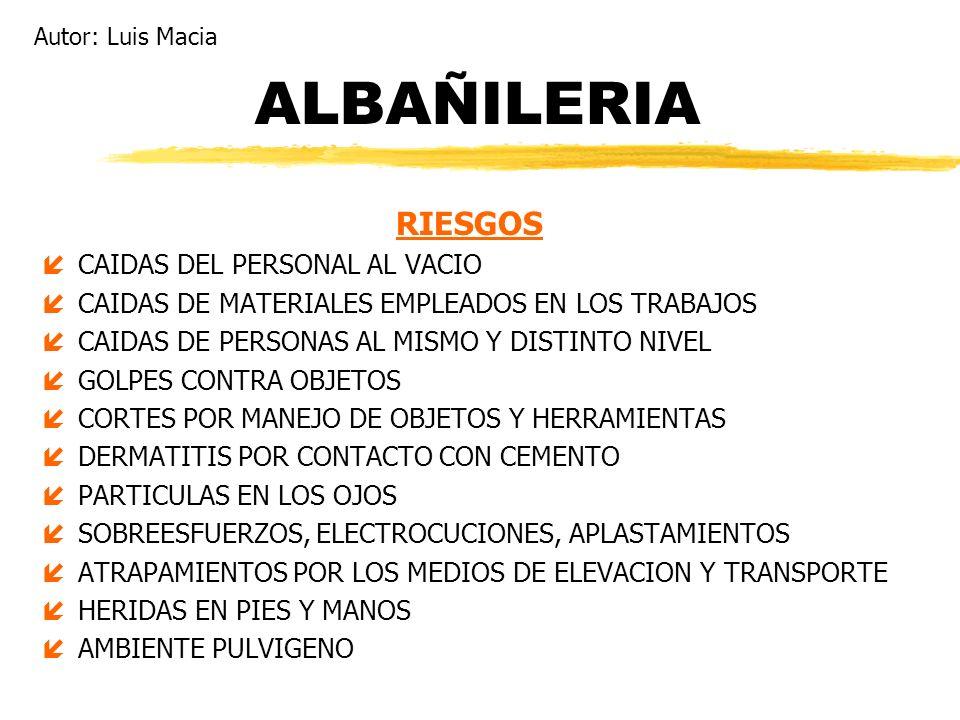 ALBAÑILERIA RIESGOS CAIDAS DEL PERSONAL AL VACIO