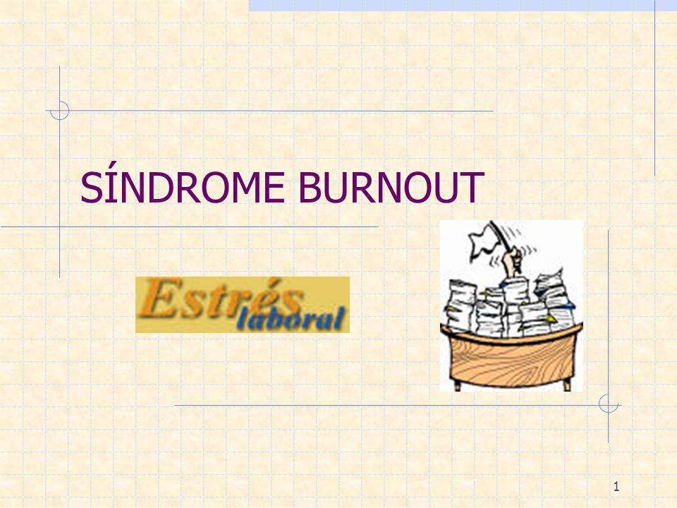 SÍNDROME BURNOUT