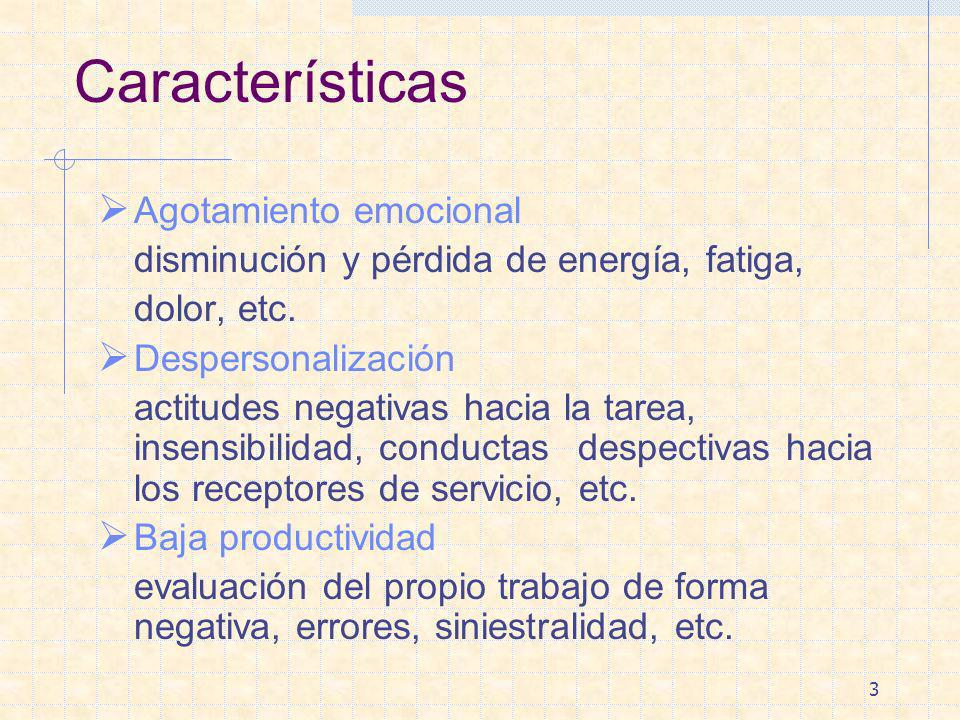 Características Agotamiento emocional