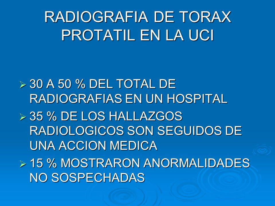 RADIOGRAFIA DE TORAX PROTATIL EN LA UCI
