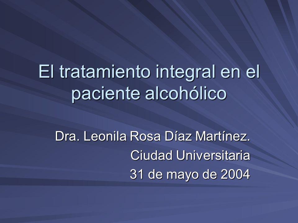 El tratamiento integral en el paciente alcohólico