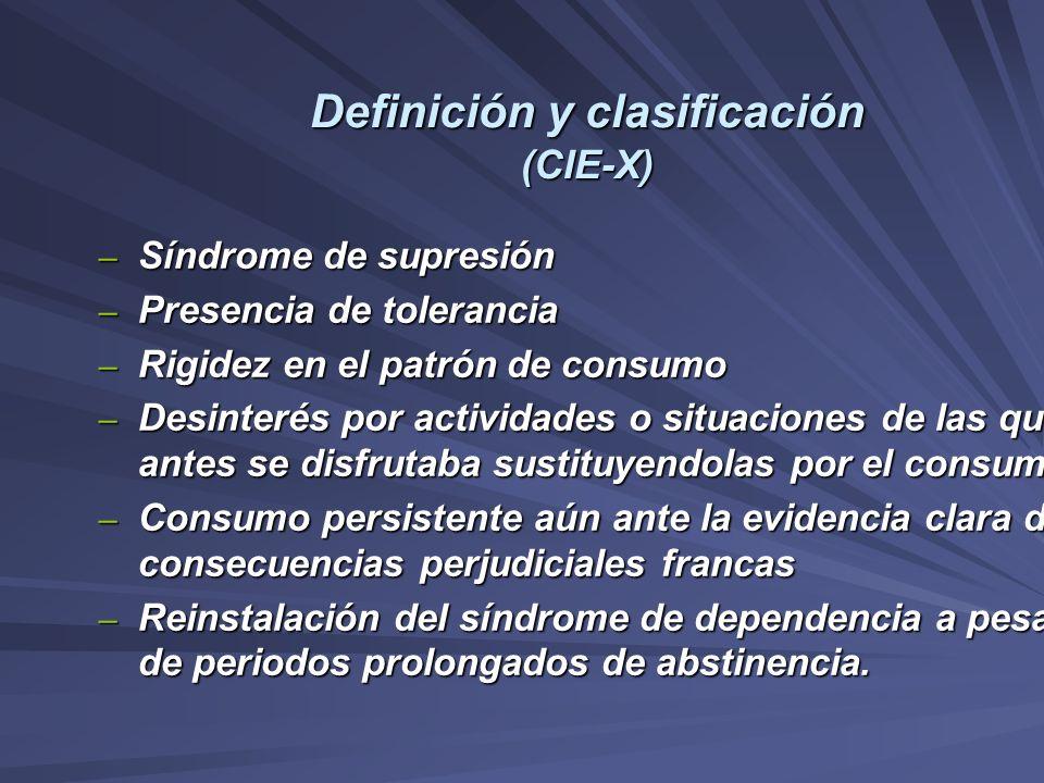 Definición y clasificación (CIE-X)