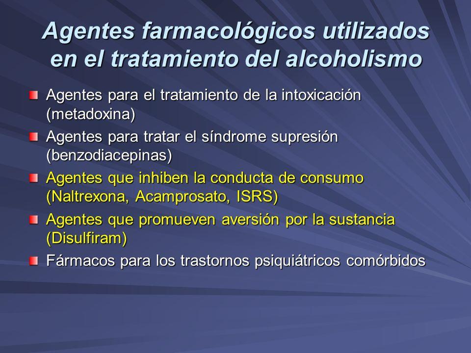 Agentes farmacológicos utilizados en el tratamiento del alcoholismo
