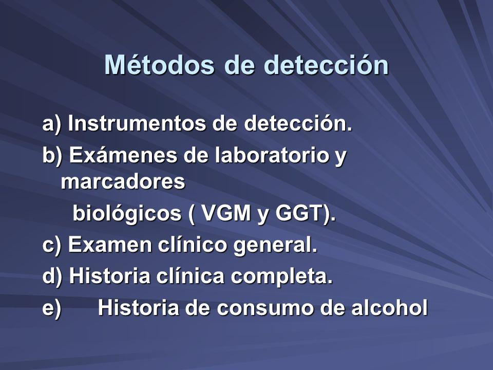 Métodos de detección a) Instrumentos de detección.
