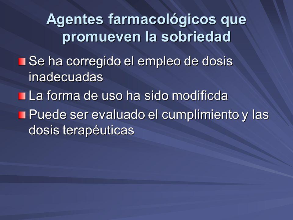 Agentes farmacológicos que promueven la sobriedad