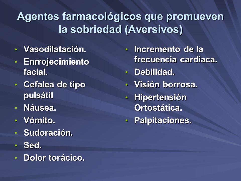 Agentes farmacológicos que promueven la sobriedad (Aversivos)
