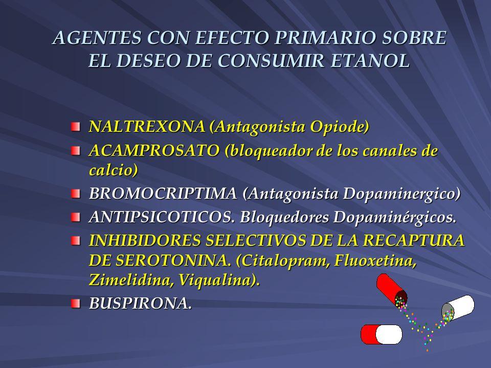 AGENTES CON EFECTO PRIMARIO SOBRE EL DESEO DE CONSUMIR ETANOL