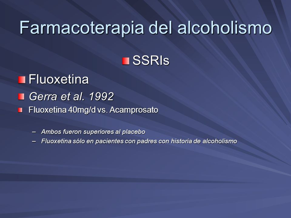 Farmacoterapia del alcoholismo