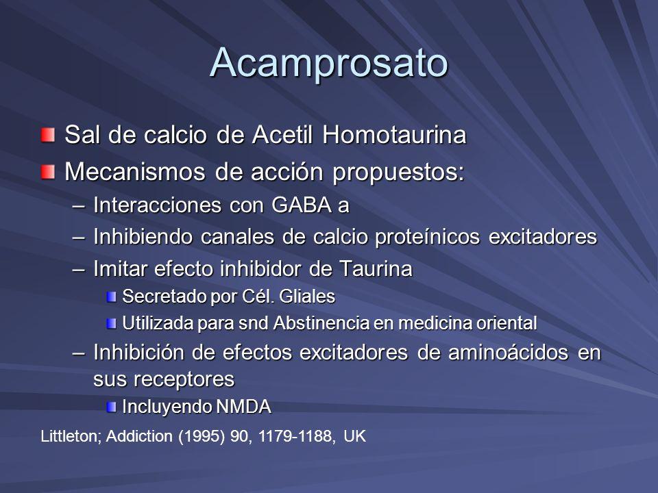 Acamprosato Sal de calcio de Acetil Homotaurina