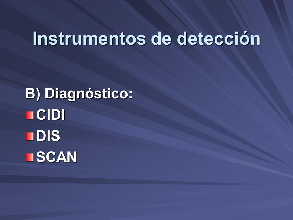Instrumentos de detección