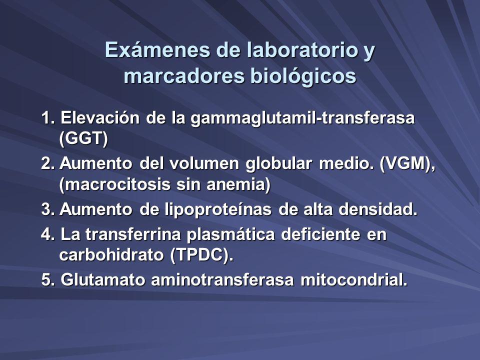 Exámenes de laboratorio y marcadores biológicos