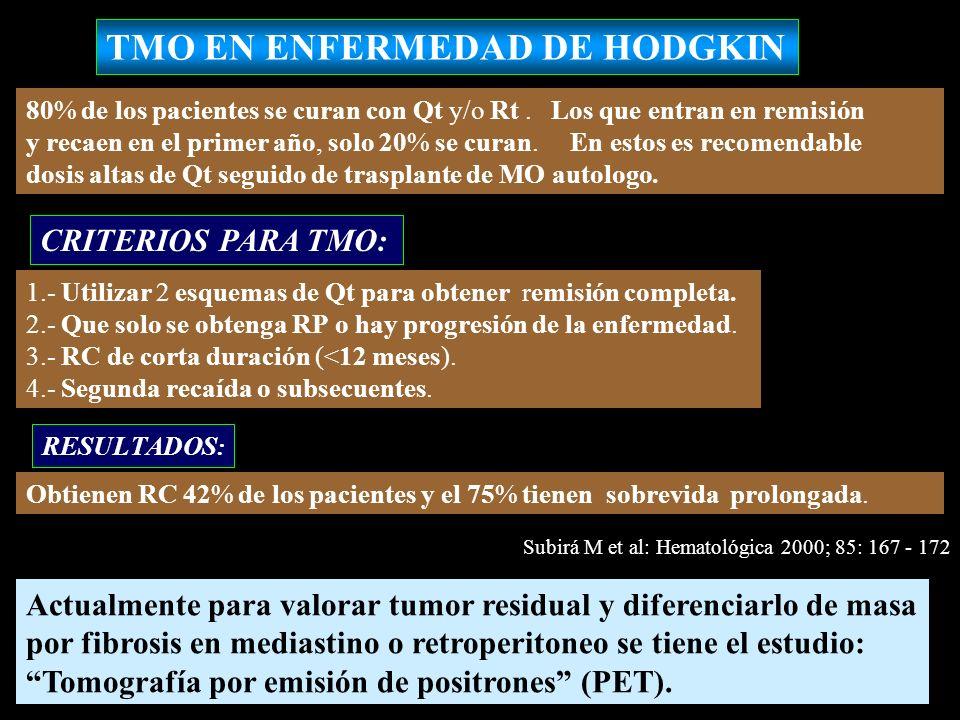 TMO EN ENFERMEDAD DE HODGKIN