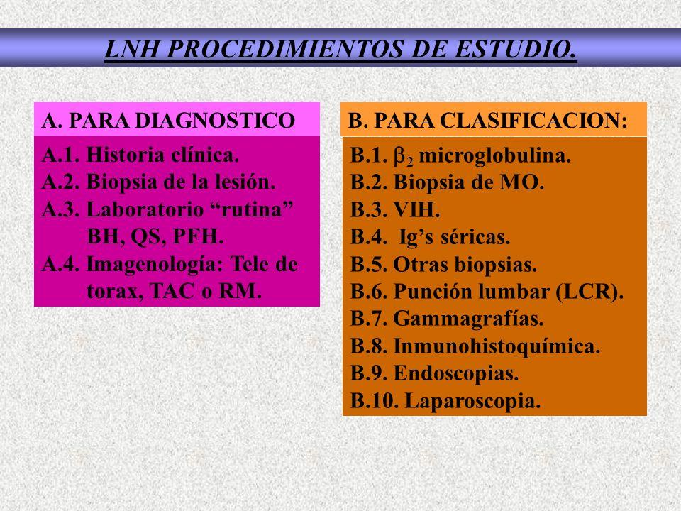 LNH PROCEDIMIENTOS DE ESTUDIO.