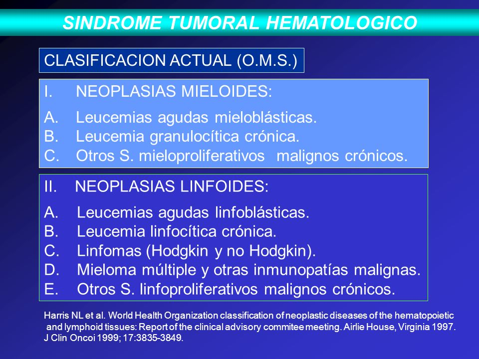 SINDROME TUMORAL HEMATOLOGICO