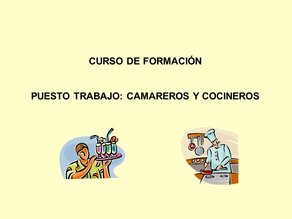 PUESTO TRABAJO: CAMAREROS Y COCINEROS