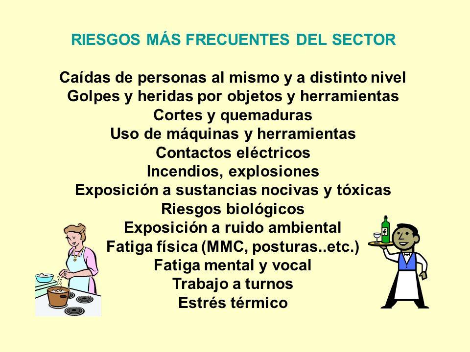 RIESGOS MÁS FRECUENTES DEL SECTOR